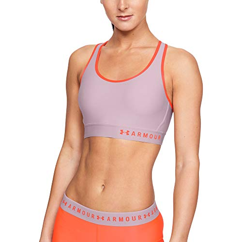 41Ekmagsk0L. SS500  - Under Armour Women's Mid Keyhole Compression Sports Bra High Support Sports Bra with Removable Cups, Light & Breathable Running Bra