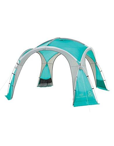 Coleman Event Dome Pavillon stabiles Partyzelt mit Stahlgestäng Sonnenschutz SPF 50 Plus, blau, XL