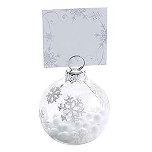 Neviti luccicante fiocco di neve Bagattella segnaposto, multicolore, confezione da 6