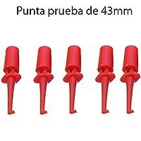5x Punta Rojas de Prueba Redonda con Gancho. Test Hook Clip
