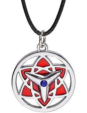 Naruto Konoha Uchiha Sasuke Halskette Halsanhänger Kette Halsschmuck antik Accessoires anime Kristall blau Cosplay...