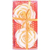 PartyHut Orange Floating Rose Candle- Set Of 2