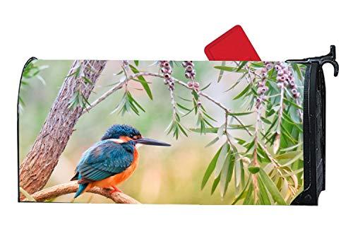 KSLIDS Briefkastenabdeckung, magnetisch, Motiv: Blaumeise, Frühling/Sommer, dekorative Briefkastenfolie für Standard Size kingfisher7