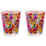 Intelligent Idiots Faces Of India Print Shot Glass Set Of 2 Preferred To Serve Mock Tail, Hard/Soft Drink In Stylish Way (4 X 10.5 X 7 Cm)