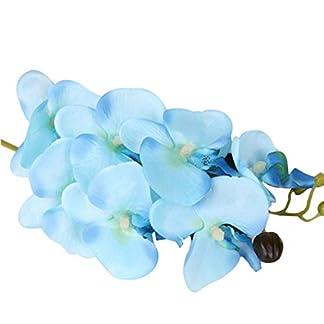 Censhaorme Seda Artificial orquídea Phalaenopsis Flor del Tallo del Ramo de la Fiesta en casa decoración de jardín