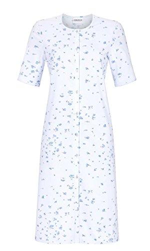 Ringella Damen Nachthemd durchgeknöpft Pastell-bleu 42 9211049, Pastell-bleu, 42