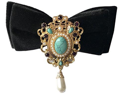 Haut Luxe Noeud Papillon Avec Le Paon Serie British Broche Blue Fete De Mariage