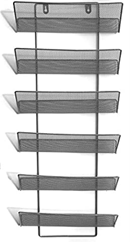 Shine Large 6 Tier Mesh wall literature holder magazine hanging file HOME/OFFICE ORGANIZER
