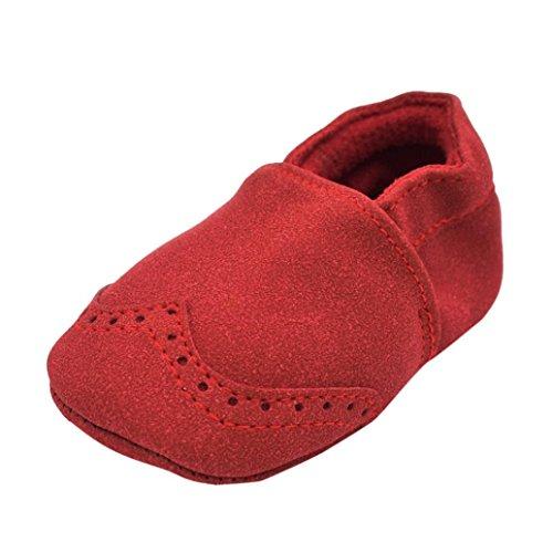 Clode® Kleinkind Baby Jungen Mädchen Neugeborene beschuht weiche Säuglinge weiche Nubuck Schuhe Rot