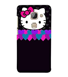 LeEco Le Max 2 :: LeTV Max 2 white head cat, cat, black background Designer Printed High Quality Smooth hard plastic Protective Mobile Case Back Pouch Cover by Paresha