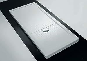 Receveur de douche rectangulaire Olympic Plus Blanc h4.5x140x90