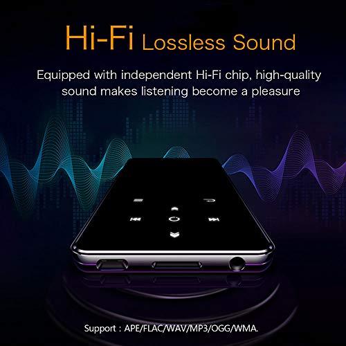 Mibao Lettore MP3 Bluetooth4.0, Lostless Music Player 16GB con 2.4' TFT Display a Colori, Pulsante di Tocco, con Radio FM/Registratore Vocale/Immagine/E-book, Supporto Espandibile Max Fino a 64GB - 4