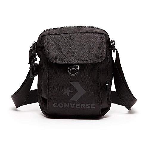 Converse Cross Body 2 Shoudler Man Tasche mit Logo, Schwarz