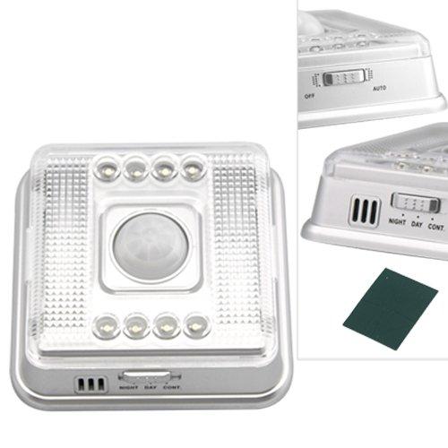 8 LED Nachtlicht Lampe Bewegungsmelder Sensor Weissue20¡ã