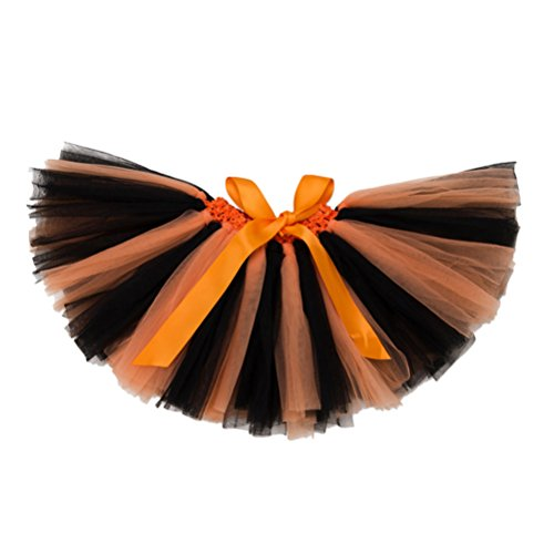 (Zhuhaitf Gute Qualität Cute Baby Girls Party Multi-layers Stripes tulle Princess Dance Tutus Skirt Pettiskirts Multi-color)