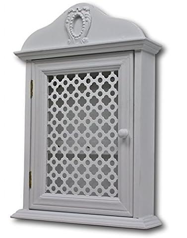 Commode En Bois Vieilli - Armoire à clés avec grille porte elbmöbel