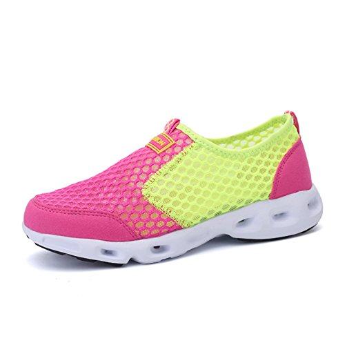 Souliers pour dames respirant/Sport et chaussures de loisirs/Fond plat chaussures femme/Chaussures de maille/Lady chaussures de course A