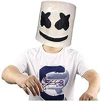 Laurelmartina Fiesta de Halloween Night Club Latex White Mask Adulto DJ Marshmello Disfraz Máscara