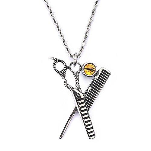 Aoligei Koreanische Version Persönlichkeit kreative Haar Stylist Dragon Schere Halskette Männer Schmuck Mode herrschsüchtig Titan Stahl P Endant Zubehör - Dragon Scheren