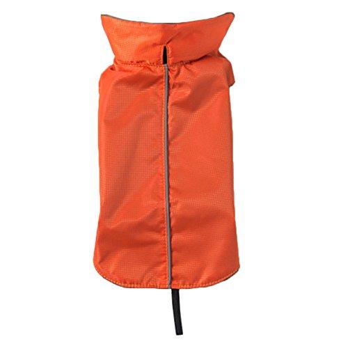 Minkoll–Chaqueta de Perro Exterior Impermeable, Polar Doublé Mou Caliente Ropa de Animales de compañía de Chaleco con el Agujero de arnés, XS Naranja