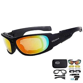 HTTOAR Gafas de Motocicleta/Gafas de Seguridad polarizadas Gafas de Sol Deportivas Gafas de conducción Bicicleta Deportes al Aire Libre Caza Militar Tiro Gafas Protectoras