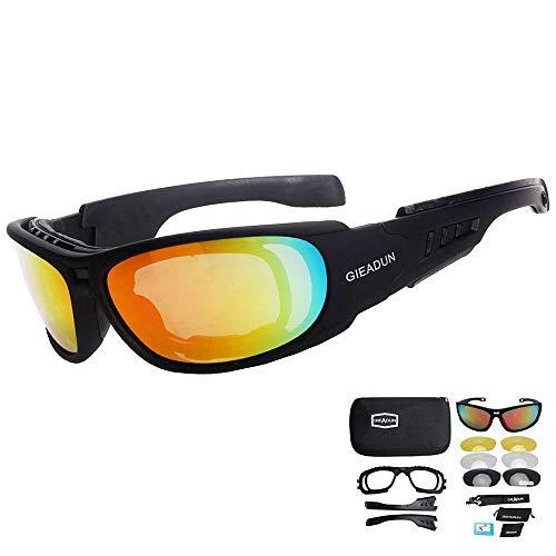 HTTOAR Gafas Seguridad El Sol hípica 4 Lente conducción