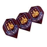 Official West Ham United FC Dart Flights - A great gift / present for men, sons, husbands, dads, boyfriends for Christmas, Birthdays, Fathers Day, Valentines Day, Anniversaries or just as a treat for and avid football fan by ONTRAD Limited