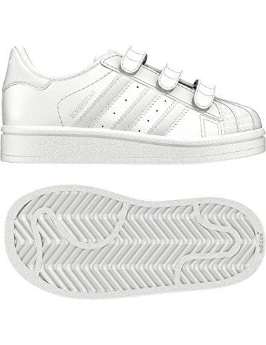adidas - Superstar Cf I, Scarpine primi passi Unisex – Bimbi 0-24 Bianco (Ftwbla / Ftwbla / Ftwbla)