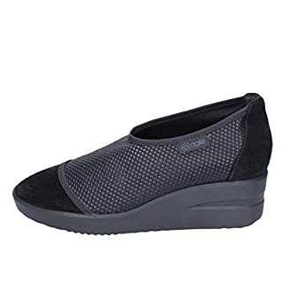 Agile By Rucoline Loafers-Shoes Womens Suede Black 5.5 UK
