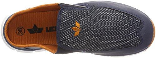 Lico Herren James Sabot Slipper Blau (Marine/Orange)