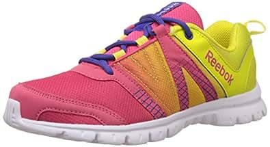 Reebok Women's Duo Runner Pink,Green,Purple And White Running Shoes - 9.5 UK