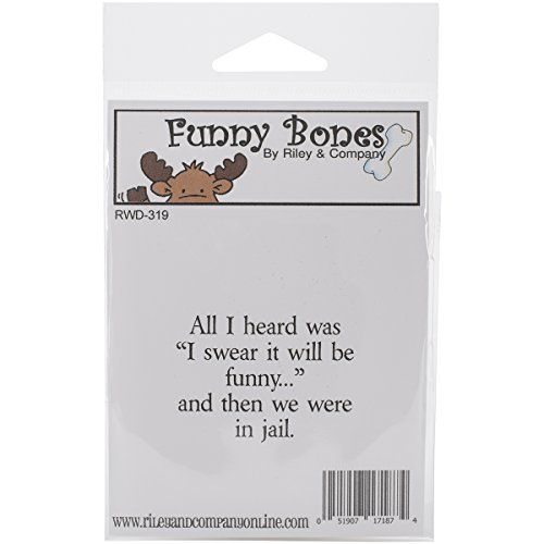 riley-company-foam-funny-bones-cling-stamp-2-inch-x-125-inch-i-swear-it-will-be-funny
