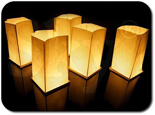 Lot de 6 Lanternes d'Eau Flottantes et 6 Bougies