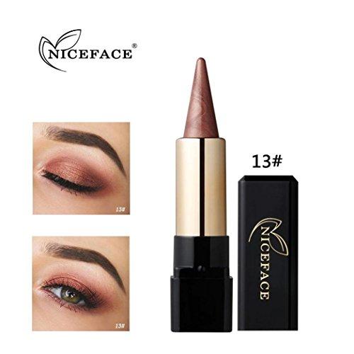 Fards à paupières, Sansee Beauté Eyeliner imperméable à l'eau Crème Eye Liner Pen Crayon Eye Shadow Gel Maquillage (#13)