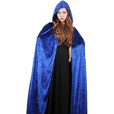 DELEY de la Mujer del Traje de Halloween de Terciopelo con Capucha Capa del Cabo de Disfraces Cosplay
