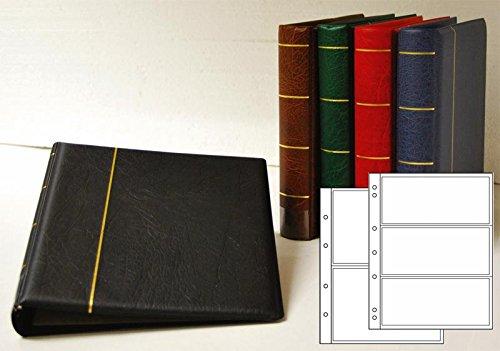 Prophila Kobra Album per Banconote con 20 Fogli per 50 Banconote Rosso