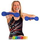 BECO BeFlex Aquahantel Wasser Fitness Hanteln blau