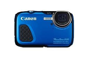 Canon PowerShot D30 Digitalkamera (12,1 Megapixel, 5-fach opt. Zoom, 7,5 cm (3 Zoll) LCD-Display, Full HD, GPS, wasserdicht bis 25m) blau
