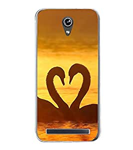 PrintVisa Duck Couple High Gloss Designer Back Case Cover for Asus Zenfone Go ZC500TG