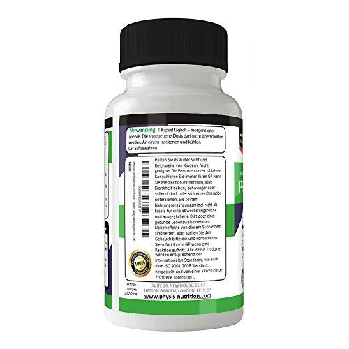 Physis Mehrfach-Biotika 50 Milliarden überlebensfähige Bakterienstämme täglich | Hohe Stärke | Aktive Bakterien | Verstärkt Generelles Wohlbefinden | Glutenfrei | 30 Kapseln