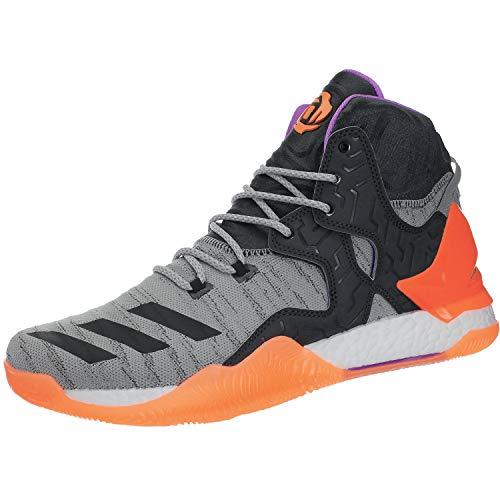 adidas Herren D Rose 7 Primeknit Basketballschuhe, anthrazit/grau, 48 EU