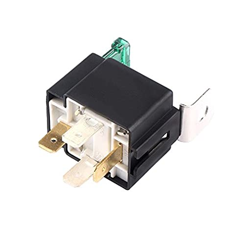 HOUTBY™ Universal 12V 30A Car Auto Heavy Duty Relay Kit Tool 4Pin Fuse On/Off SPST Metal
