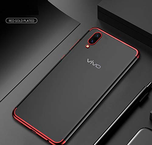 PaceBid Vivo V11 / V11 Pro Hülle Case, Crystal Farbe Handyhülle Cover Soft Premium TPU Kratzfest Stoßfest Weich Schutzhülle für Vivo V11 / V11 Pro Case Cover - Rot