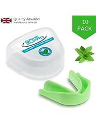 10x juego Protector/Protector de boca dientes Protector/Protector Bucal–menta, bucal, CE aprobado, ideal para el deporte escolar, infantil