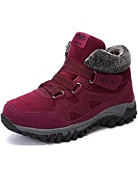 TLgf Botas de Nieve de Las señoras Invierno Ligero Impermeable a pie  Senderismo Trekking Confort Zapatos c076a0f761f4b