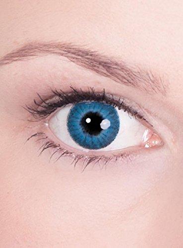 Halloween Karneval Party Motiv farbige Linsen Kontaktlinsen Engel blau 1 - Monatslinsen ohne Stärke für Frauen und (Linsen Kontakt Billig)