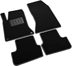 Il Tappeto Auto, Sprint02903, Fußmatten, rutschfest, schwarz, zweifarbiger Rand, Absatzschoner aus Gummi