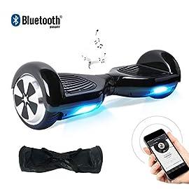 """BEBK Hoverboard 6.5"""" Smart Self Balance Scooter con Bluetooth, Overboard con LED Autobilanciato Scooter Certificazione UL 2272, 2 * 250W Motore"""