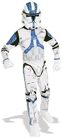 BOYS CLONE TROOPER COMMANDER BLUE COSTUME STAR WAR (Star Wars Clone Trooper Kostüm Kinder)