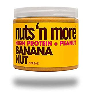 Nuts 'N More Banana Nut Peanut Spread, High Protein, Great Tasting, All Natural Sports Nutrition, 16 oz Jar